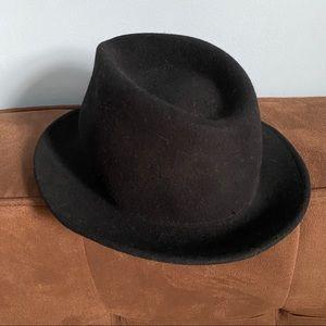 Vintage Pablo Black Wool Fedora